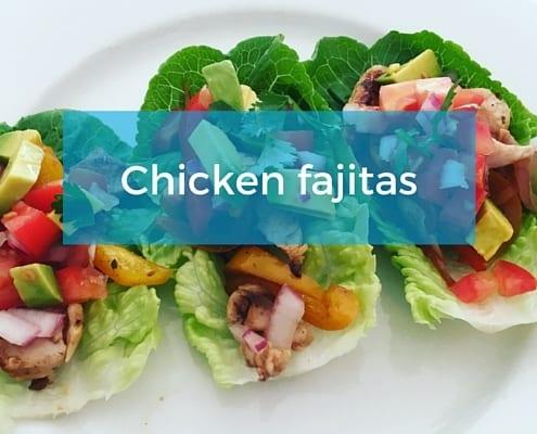 Fresh Fast Chicken fajitas