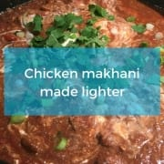 Lighter chicken makhani