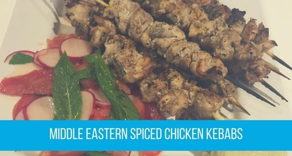 Middle Eastern Spiced Chicken Kebabs